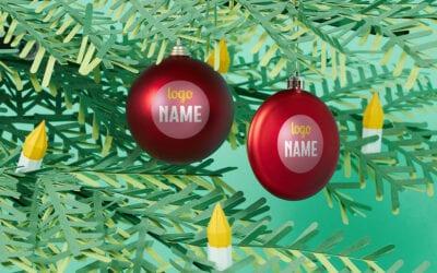 Bedrukte kerstballen