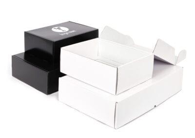 Foodbox zwart en wit • medium en large